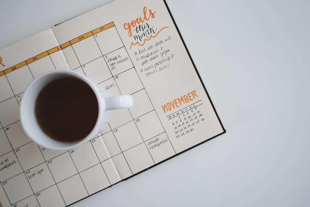 Unsplash photo by Estee Janssens Prolific Writers Life writing coffee calendar goals